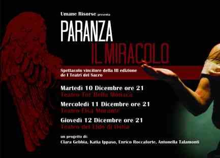 PARANZA-IL MIRACOLO_ date spettacoli